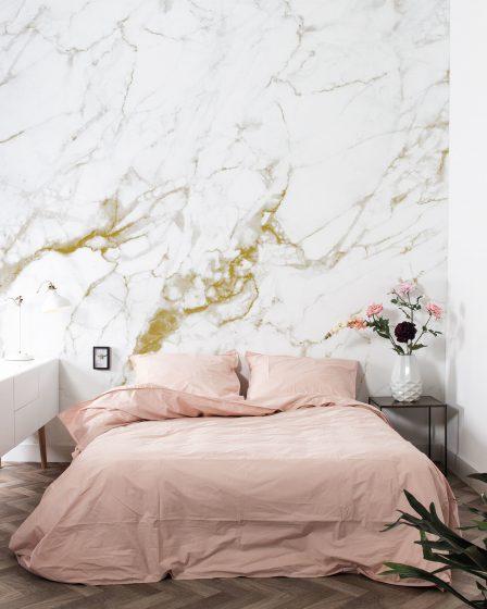 KEK Amsterdam Marmer Wit Goud Behang Hashtag Interieur Hoofdafbeelding